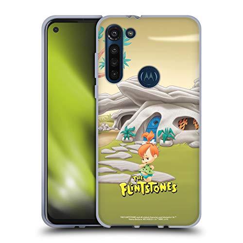 Head Case Designs Licenciado Oficialmente The Flintstones Pebbles Picapiedra Personajes Carcasa de Gel de Silicona Compatible con Motorola Moto G8 Power
