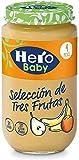 Hero Baby Baby Natur Seleccion De Tres Frutas Alimento Infantil A Partir De 4 Meses, Sin gluten y Aditivos - 235 g