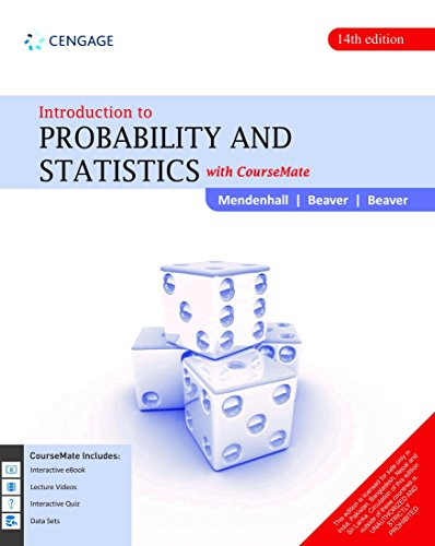 Introduction to Probability and Statistics with CourseMate