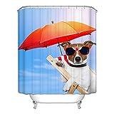 Poseca Duschvorhang, Duschvorhänge Badewannenvorhang mit Anti-Schimmel-Effekt, Wasserdichter Duschvorhang 150x180cm inkl.12pcs Ringe