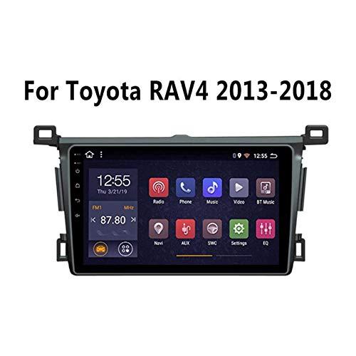 Coche Estéreo Multimedia Radio Para Toyota RAV4 2013-2018 Android Head Unit Sat Nav HD Touchscreen DOBLE DIN Video Player GPS Navegación AM FM Receptor Con 4G WIFI SWC USB DSP,4 core 4g+wifi: 1+16gb