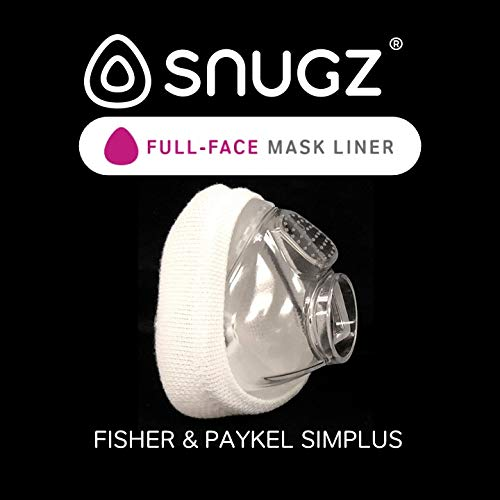 Snugz Mask Liners: Machine Washable Machine Washable, One-Size-Fits-Most CPAP Mask Liners, Pack of 2 Lasts 90 Days (Full-Face (Nose & Mouth))