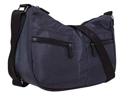 BERNARDO BOSSI sportieve dames handtas schoudertas rugzak waterafstotend nylon (M2 blauw)
