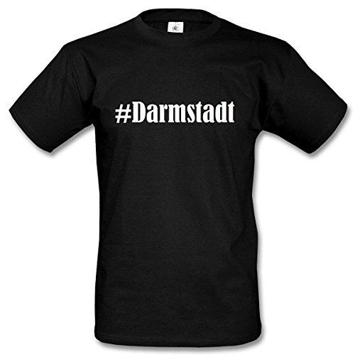 T-Shirt #Darmstadt Größe M Farbe Schwarz Druck Weiss