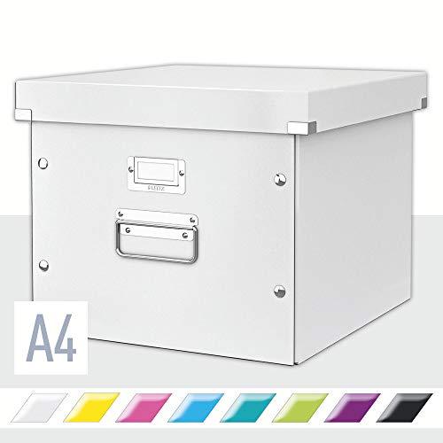 Leitz Caja de Almacenamiento para Carpetas Colgantes, A4, Gama Click and Store 60460001 - Blanco