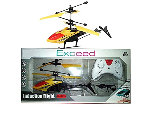 QL Helicopter Outdoor & Indoor Flight Electronic Radio RC Remote Control Toy Rechargeable with 3D Light & Safety Sensor for Toys for Kids