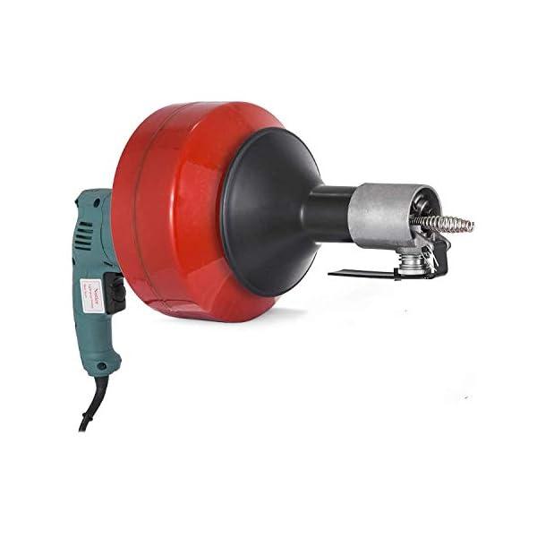 S SMAUTOP Desatascador de Desagües Espiral Eléctrico 8m Caben Tubos de 20~65 mm Herramienta de Dragado de Tuberías 220V…