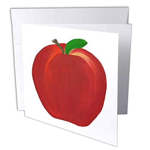 3dRose Red Apple - Greeting Cards, 6 x 6 inches, set of 6 (gc_12683_1)