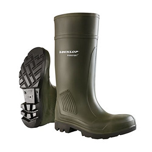Dunlop Adults Purofort Professional Sicherheits Gummistiefel (40 EU) (Grün)
