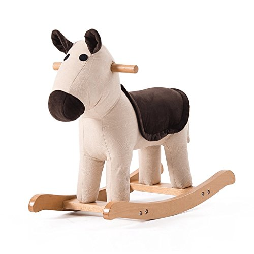 Lounge- & Cocktailsessel Horse Solid Wood Tierhocker Cartoon Hocker Cute Rocking Chair