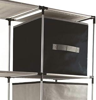 NAWA Home & Work 4 Cajas Almacenamiento de Tela Plegables Cajas Organizadores de Cajones para Ropas Juguetes de 30x30x30cm...