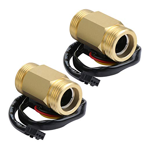 """Kyrio 2 STÜCKE G3 / 4""""Wasserdurchfluss Hallsensor Schalter Durchflussmesser Flüssigkeitszähler Sensor Schalter 1-30L / M"""