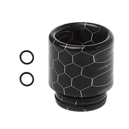 cdhgsh Drip Tip Piel de Serpiente Resina epoxi 810 Boquilla para atomizador TFV12 RDA RTA Tanque E Cigarrillos Vape Accesorios Negro
