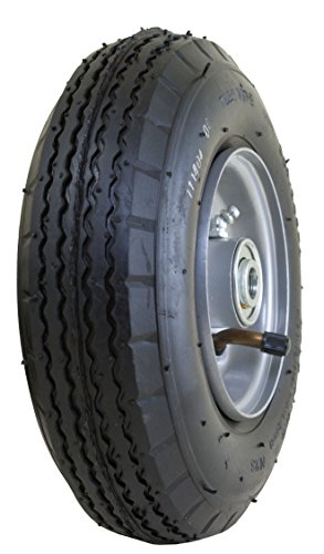 Marathon 2.80/2.50- 4' Pneumatic (Air Filled) All Purpose Utility Tire on Wheel, 3' Centered Hub, 1/2' Bearings