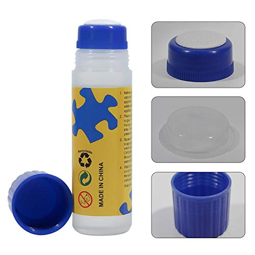 Joojun Puzzle de Pegamento Pegamento Especial con Cabeza de Esponja Puzzle Protección Ambiental Fija Pegamento líquido Transparente 120ml