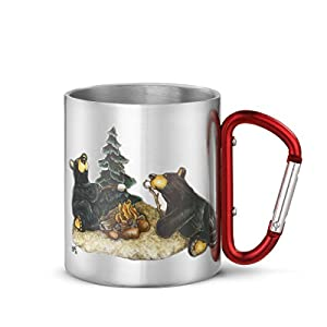 Big Sky Carvers Campfire Memories Carabiner Mug, Multicolor