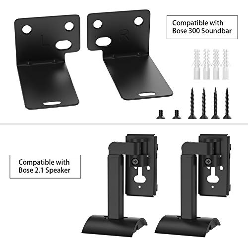 Wall Mount Kit Compatible with Bose SoundTouch 300 Soundbar & Bose Virtually Invisible 300 Wireless Surround Speakers