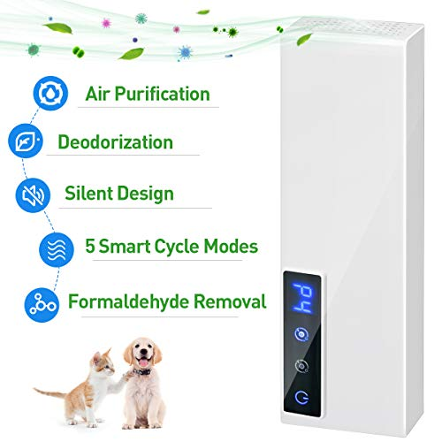 Air Purifier for Home, Portable Deodorizer to Eliminate Odor Secondhand Smoke Pet Toilet Shoes Smell, Mini USB Air Cleaner Ozone Ionizer Freshener for Car Bathroom Kitchen Bedroom Office