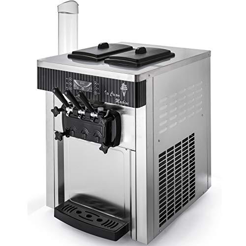VEVOR Machine à Crème Glacée Enfant de Table Professionnel 20-28L par Heure Sorbetière à Glace Ice Cream Machine