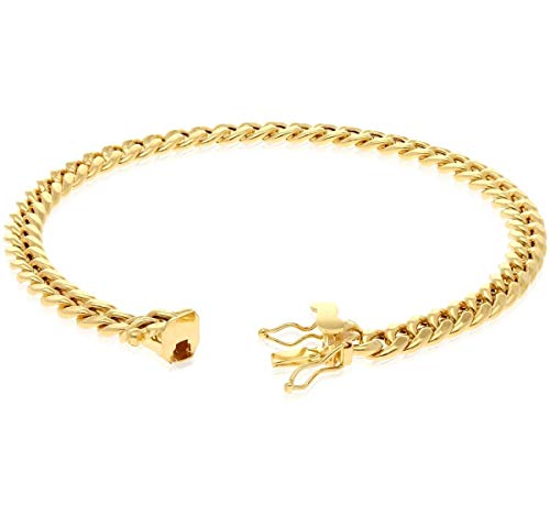 14K Yellow Gold 6mm Miami Cuban Hollow Link Bracelet 8