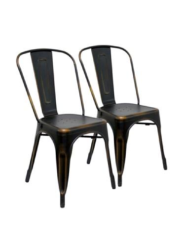 Aeon Garvin 1-Stackable Chair, Antique Copper, Set of 2