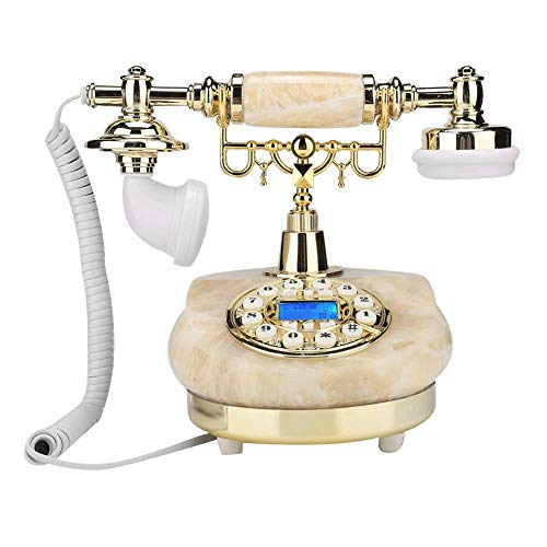 Vbestlife Teléfono Antiguo, MS-83070C Teléfonos con Cable Antiguos de Jade pequeño con...