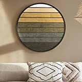 Other Furniture Sunset- Geometric Wood Wall Hanging- Round Modern Wood Wall Art
