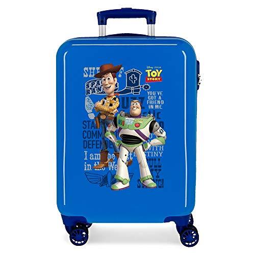 Disney You'Ve Got A Friend In Me Cabin Suitcase Blue 38 x 55 x 20 cm Rigid ABS Side Combination Closure 34L 2.7 kg 4 Double Wheels Hand Luggage