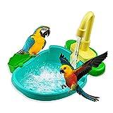 ZLHW Piscina automática para bañera Bird, Accesorios para Ducha Parrot Birdbath, Cuenco para bañera con Bomba de Fuente, bañera automática Parrot, se Aplica a periquitos pequeños medianos, agapornis,
