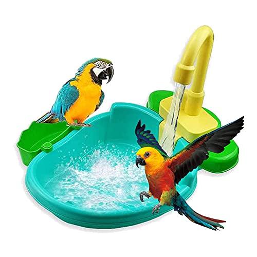 ZLHW Piscina automática para bañera Bird, Accesorios para Ducha Parrot Birdbath, Cuenco...