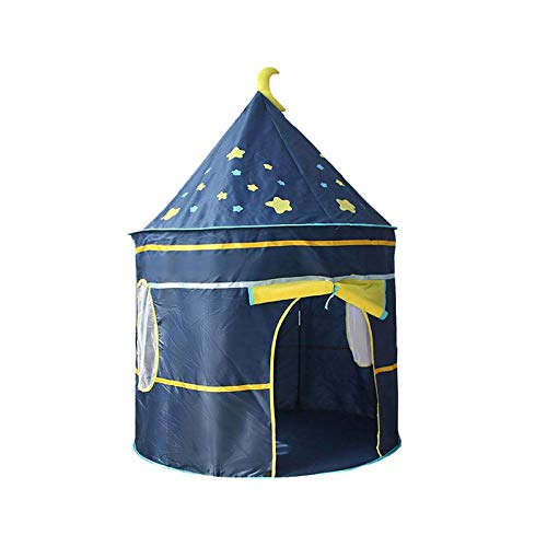 Childrens Teepee Play Tent With Floor Mat Yurt Style Moon Stars Pattern Castle For Indoor Outdoor Games