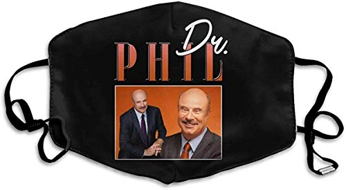 Face Mask Cloth Washable Dr Phil Talk Show Anti Filter Dust Fabric Mouth Mask Reusable Printed