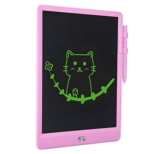 ASHATA LCD-Bildschirm Handschrifttafel, rote und Blaue Schrift Business Drawing Tablet Schreibtafel, 8,5-Zoll-Ergonomie-Design-Memo zum Malen Zeichnen für Kinder(red)