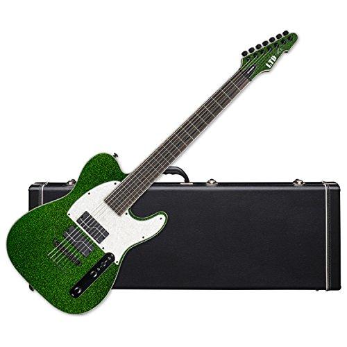 ESP LTD SCT-607 Stephen Carpenter Baritone Electric Guitar (Green Sparkle) w/Ha