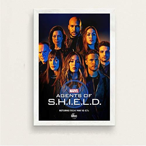 Agenten Von Shield New Season 6 Hot-Tv-Serie Show Art Malerei Seide Leinwand Poster Wand Wohnkultur 50 * 70Cm No Frame
