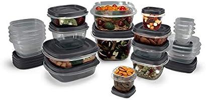 Rubbermaid Antimicrobial Food Storage, 42-Piece Set, Grey