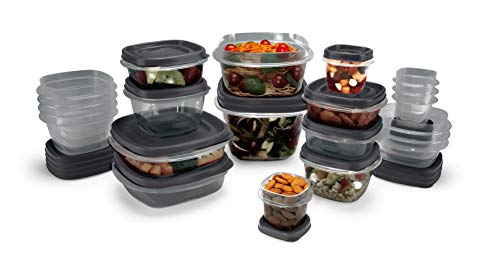 RUBBERMAID EasyFindLids Frischhaltedosen mit antimikrobiellem SilverShield Produktschutz, Plastik, grau, 42-Piece Set