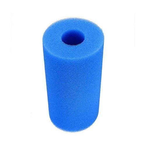 Greatangle Blaue Schwimmbadfilter-Schwammsäule Schwammrohr Konzentrische zylindrische Filterschwammsäule 7 * 10,5 * 4 cm