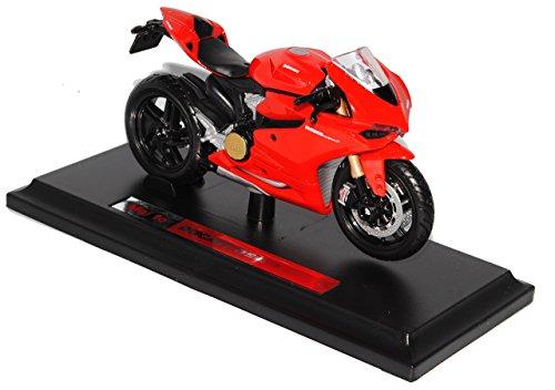 Maisto Ducati 1199 Panigale Rot Ab 2011 Mit Sockel 1/18 Modell Motorrad mit individiuellem Wunschkennzeichen