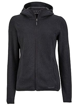 Marmot Women's Norhiem Sweater Knit Fleece Jacket, Jet Black, Large