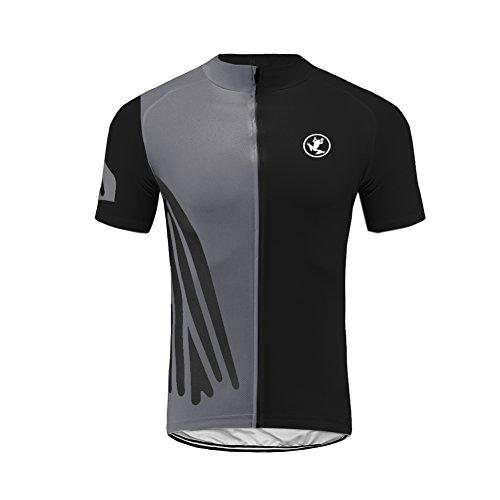 Uglyfrog Designs Bike Wear Herren Radtrikot Shirt Kurzarm Pro Team MTB Radfahren Top Radshirt Atmungsaktiv Durchgehender Reißverschluss