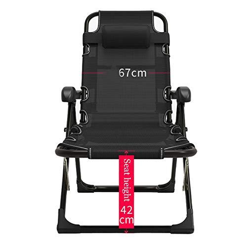 LLCA Sonnenliege Klappbar Liegestuhl Verstellbar Schwerelosigkeit Liegestühle Klappliegestuhl für Camping Freizeit Garten Strand Patio Liegestuhl
