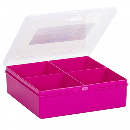 Wham 4 Section Organiser Box Fuscia