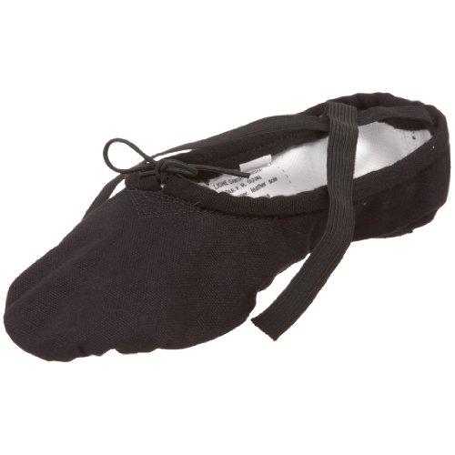 SANSHA Pro 1 Canvas Ballet Slipper,Black,10 M (8 M US Women's/6 M US Men's)