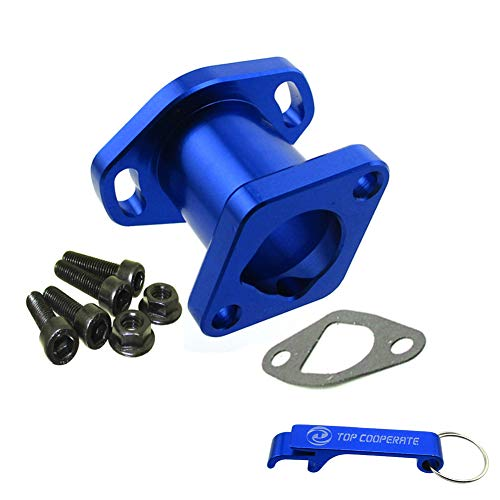 TC-Motor Blue Racing Performance Intake Pipe Inlet Manifold Gasket Screw For Predator 212cc For Honda GX200 For 6.5HP Chinese OHV Engines For Chinese 196cc Clone Engines Go Kart Cart Mini Bike