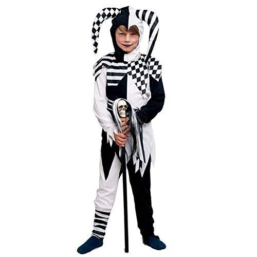 Disfraz Bufón Negro para Niño Halloween (7-9 años) (+Tallas)