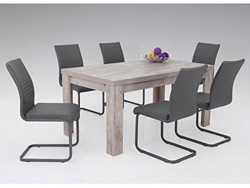 möbelando Esszimmertisch Küchentisch Tisch Holztisch Speisentisch Esstisch Magali I Sandeiche