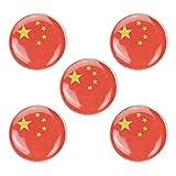 PRETYZOOM Bandiera Paese Smalto in Lega di Zinco Souvenir Spilla Uomo Donna Patriottico Smalto Distintivo 5 Pezzi (Cina)