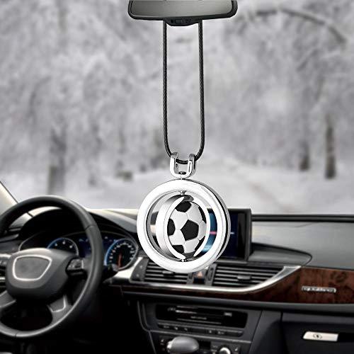 Inveroo Auto Anhänger Fußball Basketball Volleyball Auto Ornamente Innen Rückspiegel Dekoration Hängen Deko Auto Zubehör Geschenk