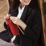 ELECTROPRIME Needles Knitting Pointed Bamboo Sweater Glove Knit Tool Kit 25cm High Quality
